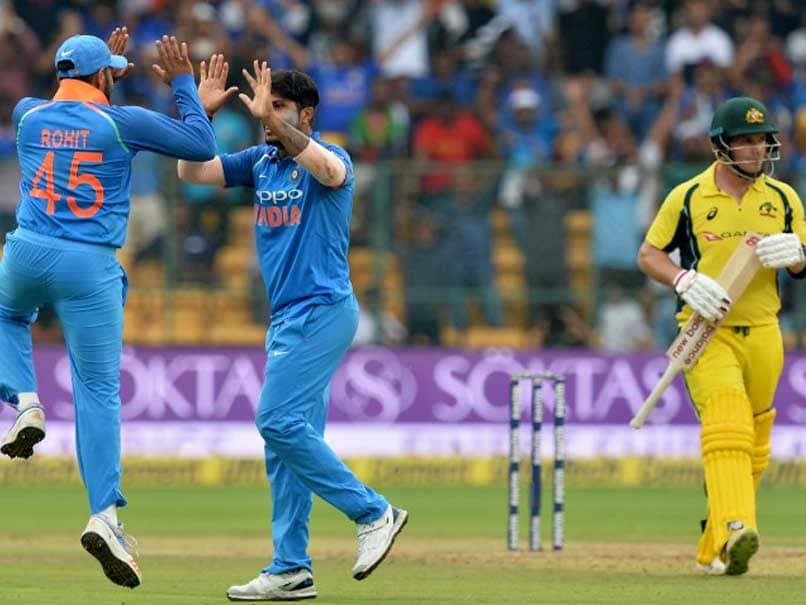 Australia post 288-5 in ODI series opener against India