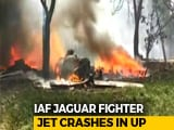 Video : Air Force's Jaguar Fighter Plane Crashes In UP, Pilot Ejects