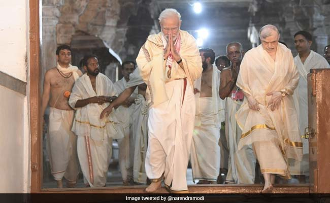PM Modi Offers Prayers At Padmanabhaswamy Temple