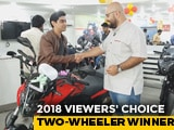 Video: 2018 NDTV CNB Viewers' Choice Two-Wheeler Winner