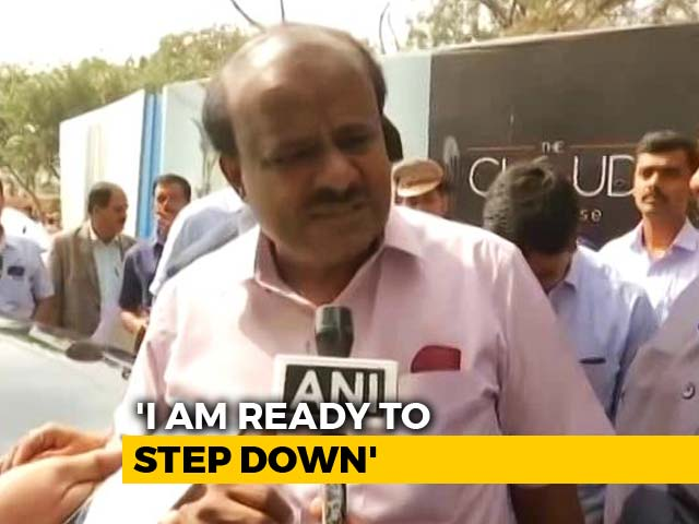 "Video : ""Ready To Step Down"": HD Kumaraswamy's Outburst Betrays Coalition Chaos"