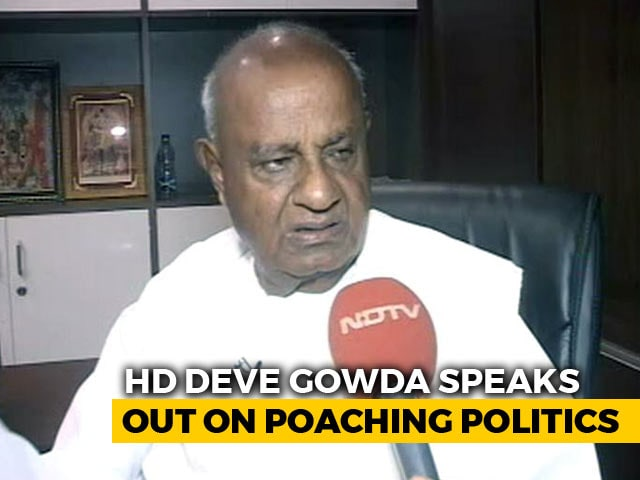 "Video : ""Karnataka Coalition Absolutely Safe,"" Says HD Deve Gowda"