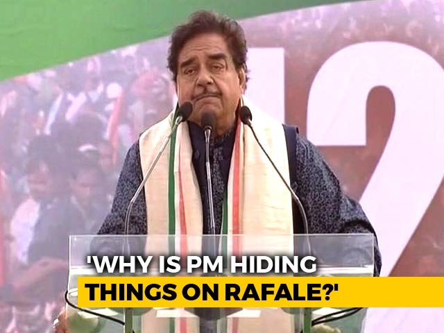 "Video : Clarify On Rafale Or People Will Say ""Chowkidaar Chor Hai"": Shatrughan Sinha"