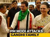 "Video : PM Attacks Gandhis: ""So-Called First Family Has To Walk Around On Bail"""
