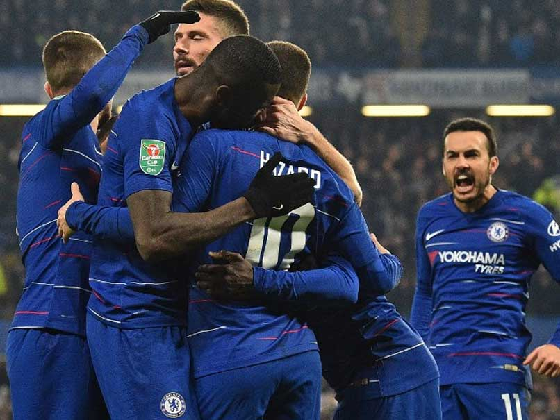 """Chelsea Beat Tottenham, Maurizio Sarri Hopes League Cup Final Spot Will Be """"Turning Point"""""""
