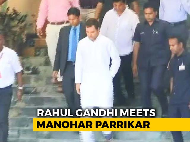 "Video : Rahul Gandhi Meets Manohar Parrikar, Day After ""Rafale Secrets"" Attack"