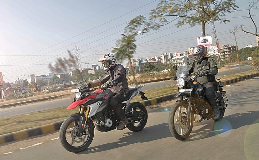 The BMW G 310 GS and Royal Enfield Himalayan are both dual-purpose bikes