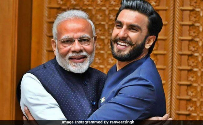 Image result for ranveer singh and modi