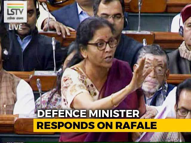 Video : Defence Minister Nirmala Sitharaman's Reply On Rafale Debate In Lok Sabha