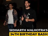 Video : Sidharth Malhotra's Star-Studded 34th Birthday Bash