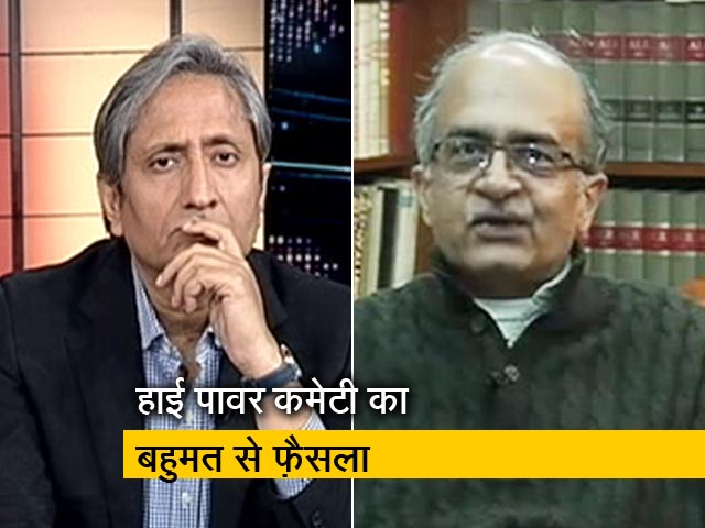 Videos : प्राइम टाइम : CBI प्रमुख को हटाया जाना SC की भावना के ख़िलाफ़ नहीं?