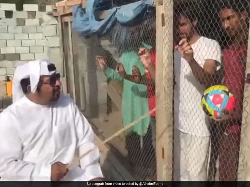 "Locking up Indian fans before the match in a ""bird cage"" has gone viral on social media"