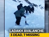 Video : 3 Dead, 7 Missing As Avalanche Hits SUV In Khardung La Pass, Ladakh