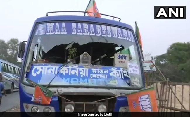 Buses Vandalised, Petrol Pump Set Afire After Amit Shah's Kanthi Rally