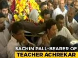 Video : Sachin Tendulkar Attends Childhood Coach Ramakant Achrekar's Funeral