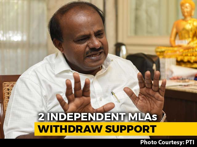 "Video : As 2 Exits Jolt Coalition, HD Kumaraswamy ""Totally Relaxed"""
