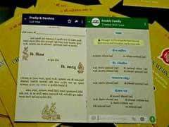 Surat Gujarat Couple Designs WhatsApp-Style Invite For Their Wedding