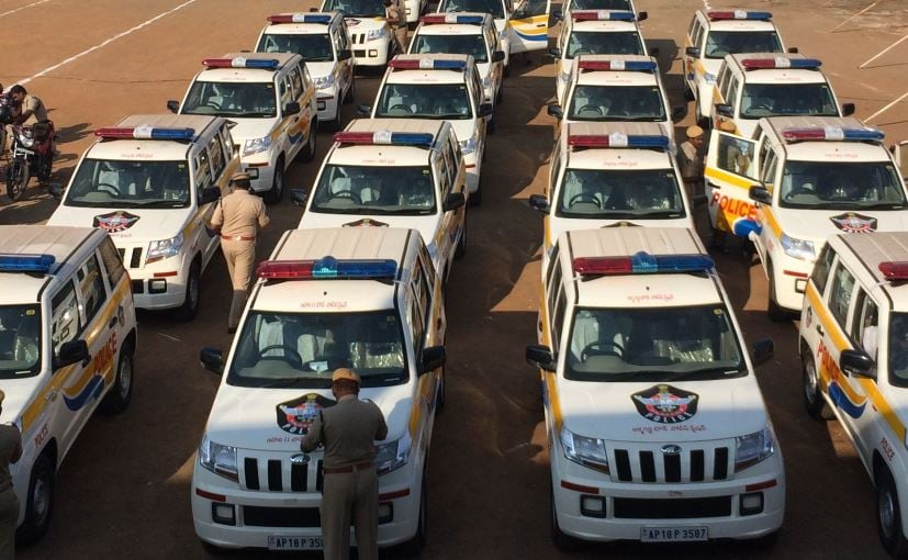These TUV300s are part of the 242 SUVs that have been recently inducted into the AP Police fleet