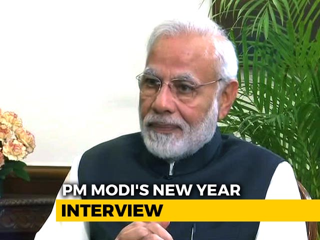 "Video : PM Modi's New Year Interview: ""2019 Will Be About Janta vs Gathbandhan"""