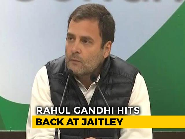 Video : Arun Jaitley Said That Rafale Jet Costs Rs. 1,600 Crore, Says Rahul Gandhi