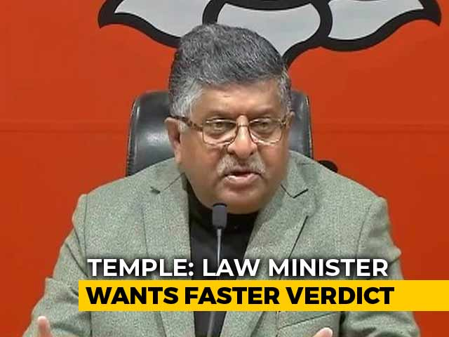 Video : Ayodhya Case Should Be Heard Without Delay, Says Ravi Shankar Prasad