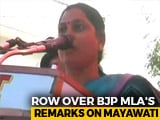 Video : Huge Controversy Over BJP Lawmaker's Offensive Comments Against Mayawati