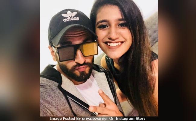 Priya Prakash Varrier, 'Big Fan' Of Ranveer Singh, Wanted To Star In Simmba