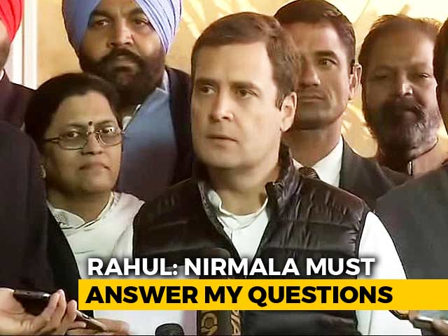 """Video : """"Clear Lie"""": Rahul Gandhi's All-Out Attack On Nirmala Sitharaman Over HAL"""