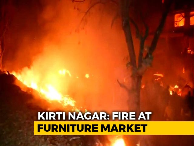 Video : Massive Fire At Delhi Furniture Market, Nearly 100 Shanties Destroyed
