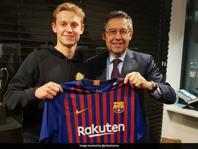 Barcelona Sign Frenkie De Jong From Ajax For 75 Million Euros