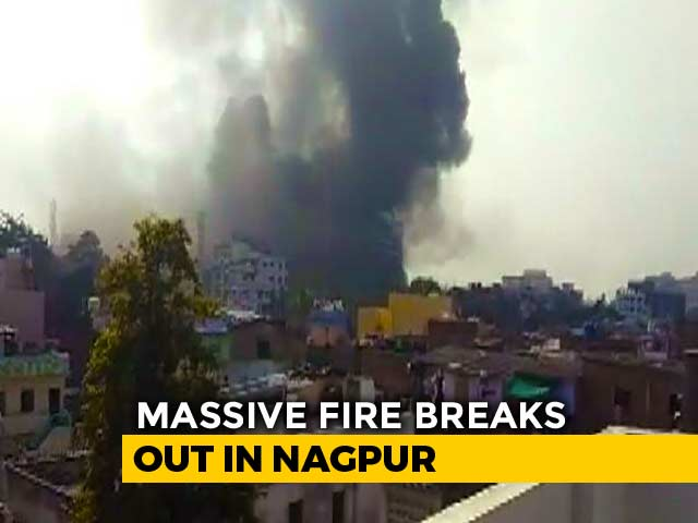 Video : Massive Fire At Hospital Being Built In Nagpur, Blaze Under Control