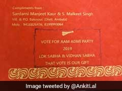 "For Wedding Gift Just ""Vote For AAP"", Says Haryana Couple On Invite"