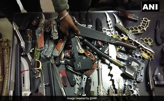 Swords, Guns, Knives Seized From BJP Worker's Shop In Thane