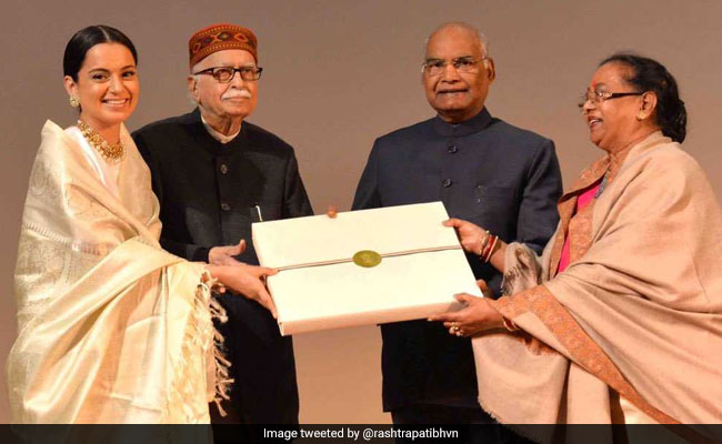President Kovind Watches Kangana Ranaut's Manikarnika, Felicitates The Cast Of The Film