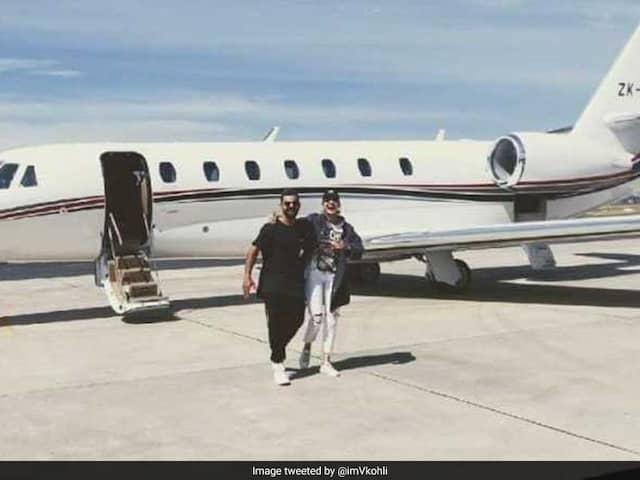 """Away We Go"": Virat Kohli Jets Off With Anushka Sharma After Conquering New Zealand"