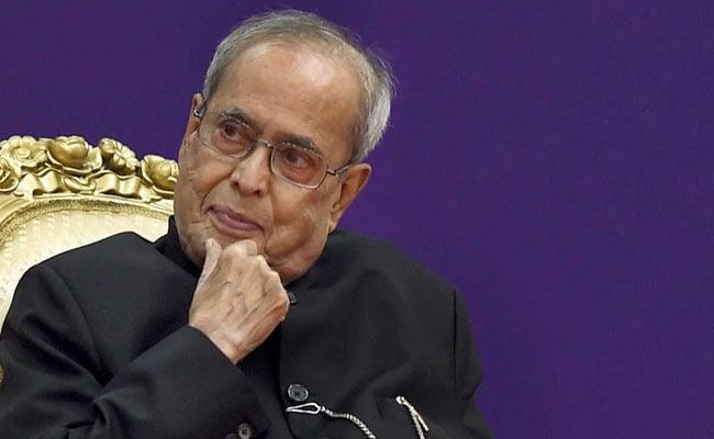 "$5 Trillion Economy ""Isn't Coming Out Of Heaven,"" Says Pranab Mukherjee"