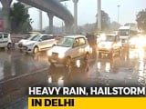Video : Jams In Delhi After Heavy Rain, Hailstorm During Rush Hour