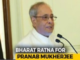 Video : In Bharat Ratna For Pranab Mukherjee, A Lifelong Congress Man, A Message
