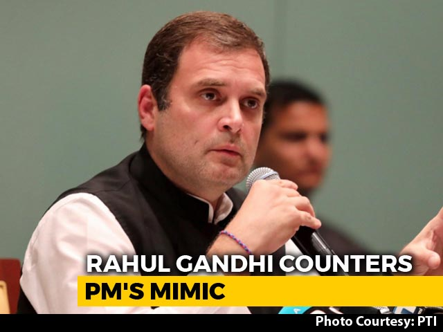"""Video : People's Cry, """"Your Highness"""": Rahul Gandhi Retorts To PM's """"Bachao"""" Barb"""
