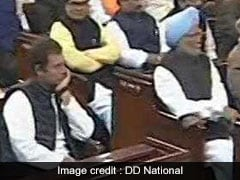 Rahul Gandhi Debuts In Front Row Of Parliament Central Hall