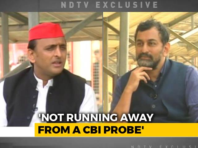 "Video : ""Who Will Investigate CBI?"" Akhilesh Yadav's Dig At Government Over Raids"