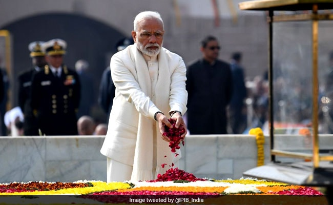 PM Modi, President Kovind Pay Tribute To Mahatma Gandhi At Rajghat