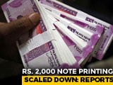 Video : Rs. 2,000 Note Printing Scaled Down To Minimum By RBI: Report