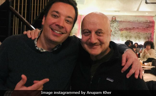 The Tonight Show Starring Anupam Kher And Jimmy Fallon. See Pic