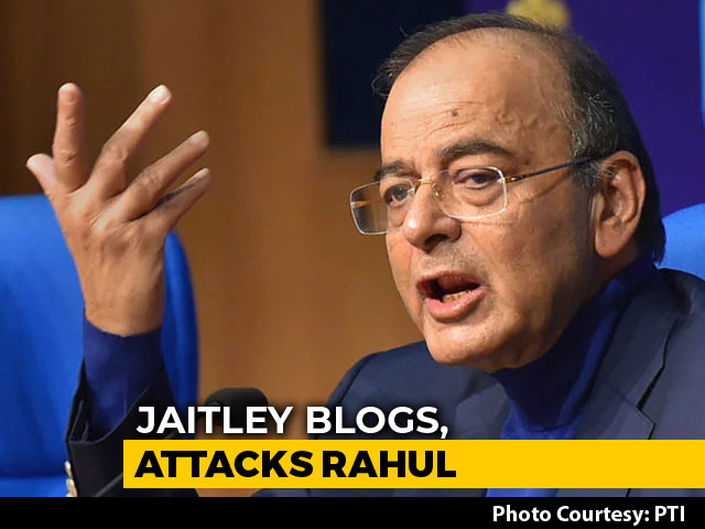 "Video : Arun Jaitley, In USA For Treatment, Attacks ""Compulsive Contrarians"""