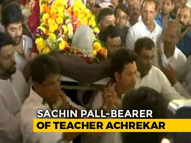 Video : Sachin Tendulkar Attends Childhood Coach Ramakant Achrekar's Funeral