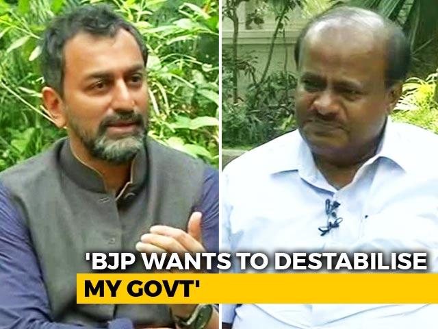 """Video : """"PM Modi Is A Paper Tiger"""", Says HD Kumaraswamy"""