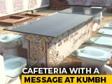 "Video : At Kumbh Mela 2019, Unique ""Toilet Cafeteria"" A Big Draw."