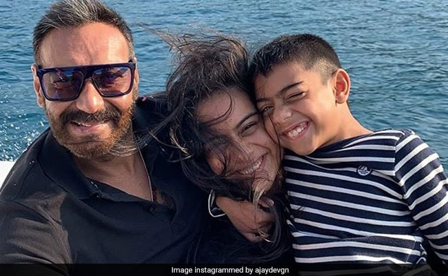 Here's How Nysa And Yug Put A Smile On Dad Ajay Devgn's Face