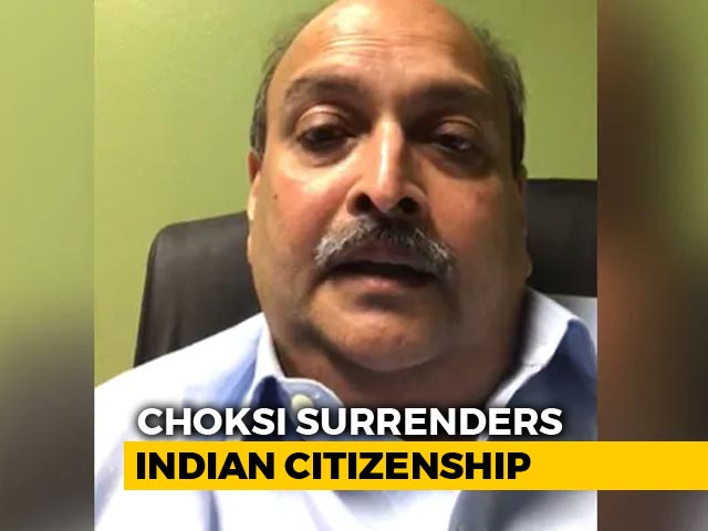 Video : Fugitive Businessman Mehul Choksi, In Antigua, Surrenders Indian Passport